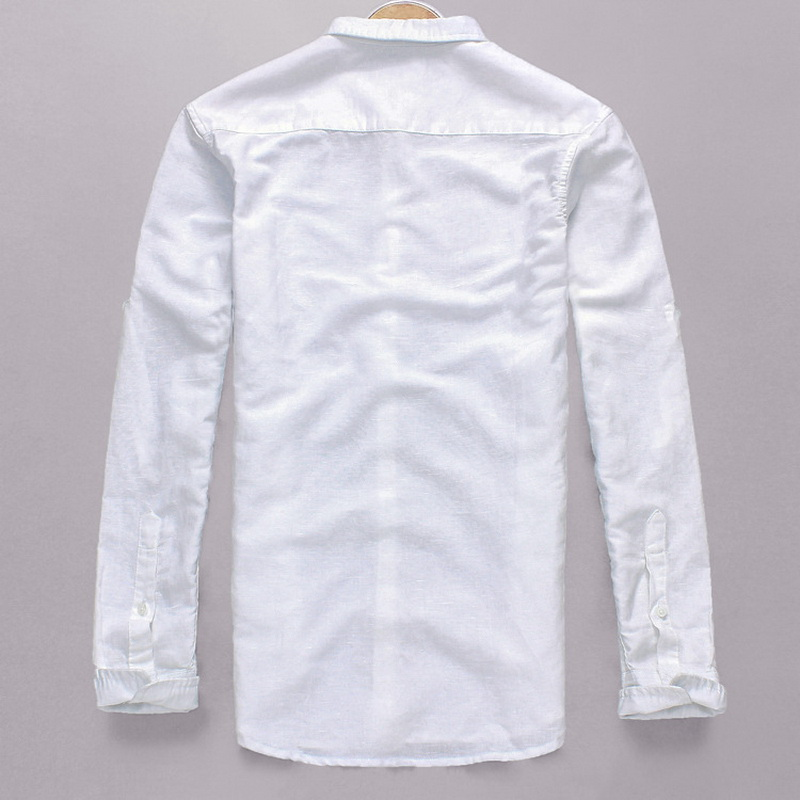 Nova Italija Stilska moška bombažna majica Modra majica s polnimi - Moška oblačila - Fotografija 2