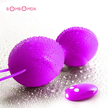 Remote Control Silicone Vagina Ball Vibrators 10 Vibrations Wireless Vibrator Sex Toys For Woman Vibrating Ben Kegel Wa Ball