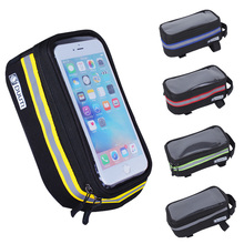 Bicycle Bag Nylon Bike Bags TPU Transparent Touch Cycling Double Layer Storage Navigation Phone