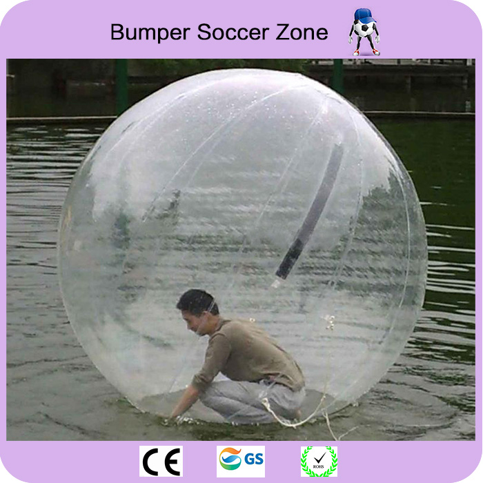Envío gratis 2m bola inflable para caminar por el agua Globos de agua bolas inflables gigantes de playa Bola de burbuja de agua