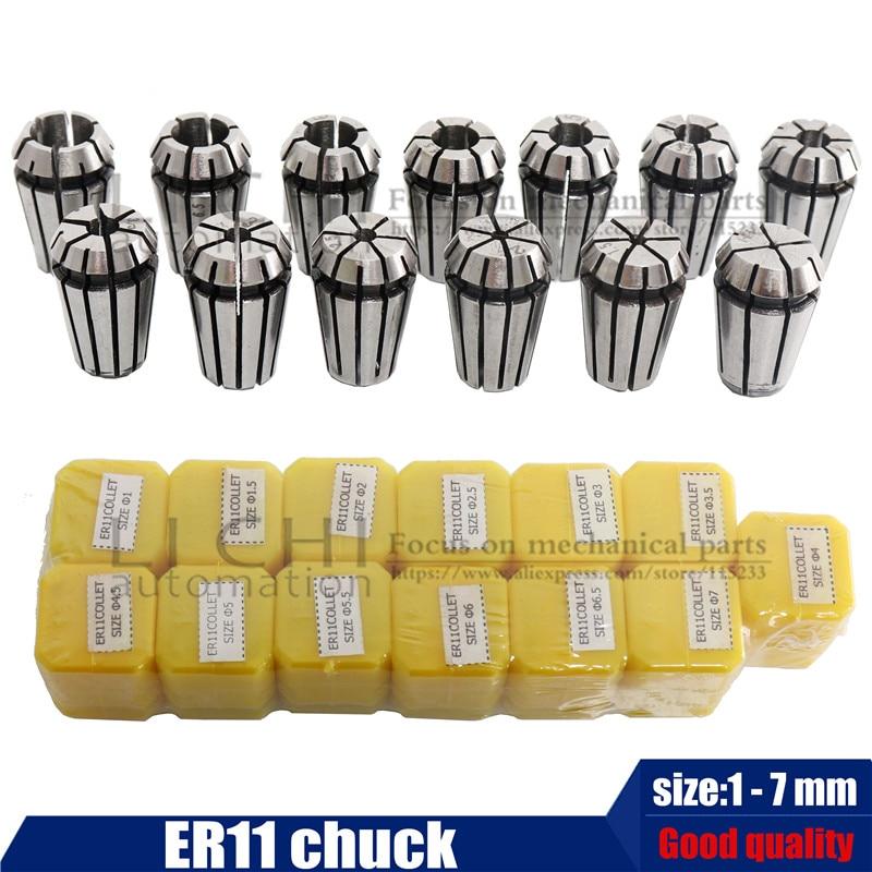 0,5 кВт шпиндель с воздушным охлаждением ER11 патрон с ЧПУ, 500 Вт мотор шпинделя+ 52 мм зажимы+ регулятор скорости питания для DIY CNC - Цвет: 13pcs ER11