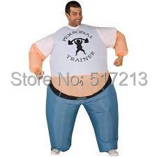 Inflatable Personal Trainer costume Strong man Inflatable Fat Costume Suit halloween party costume for adult inflatable  sc 1 st  AliExpress.com & Inflatable Personal Trainer costume Strong man Inflatable Fat ...