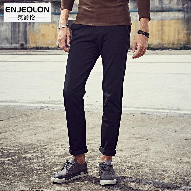 Enjeolon бренд довгі брюки чоловічі чорні - Чоловічий одяг - фото 2
