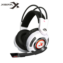 Xiberia K3 7.1 Virtual Surround Sound Gaming Auriculares Auriculares Estéreo Juego de Graves Auriculares Auriculares con Mic/Vibración/LED para PC Gamer