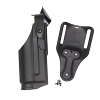 Safariland Airsoft Gl0ck Pistol 17 19 21 22 31 32 Belt Holsters With Flashlight Mounted Tactical