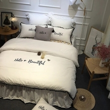 Winter Coral Fleece Bedding Set Soft Velvet Fashion Thickening Solid Color Double Short Keep Warm Flannel Bed Duvet Covers Sets