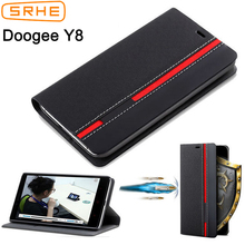 SRHE For Doogee Y8 Case Cover Flip Leather Silicone Fashion Book Y 8 With Card Holder