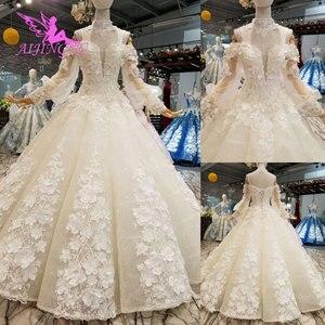 Image 5 - AIJINGYU Vegas Weddings Gray Gowns Muslim 2 In 1 White Informal Arabic Dreess Vintage Lace