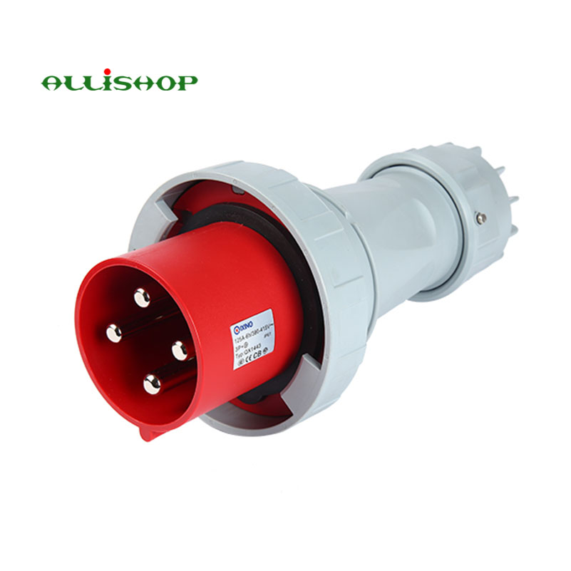 Fork connector  380 V  63 A IP67  4P + PE connector rm15wtpza 4p 71