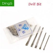 купить 20pcs 1~2.4mm Diamond Coated Drill Bit Solid Bits Punch Needle For Jewelry Ceramic Jade Agate Glass Amber Drilling Tool дешево
