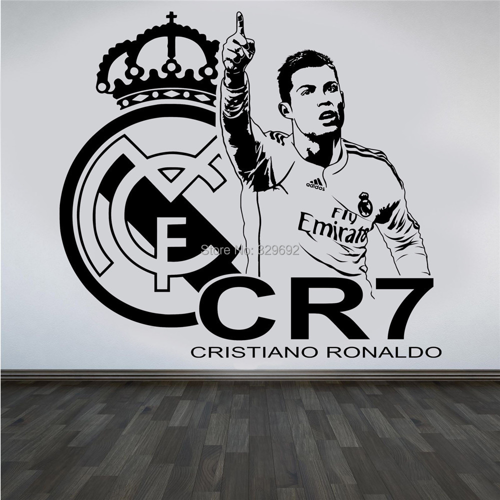 3d poster design online - New Design 3d Poster Soccer Star Cristiano Ronaldo Vinyl Wall Sticker Football Player Wall Decals For