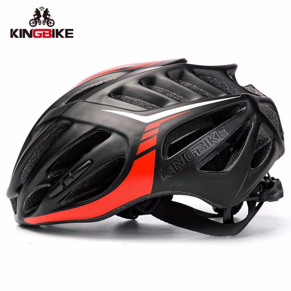 Kingbike Ultra-Léger Route Vélo Casque VTT Casque De Vélo Moulée Intégralement Vélo De Route Casques Capacete Casco Ciclismo 58-62 cm