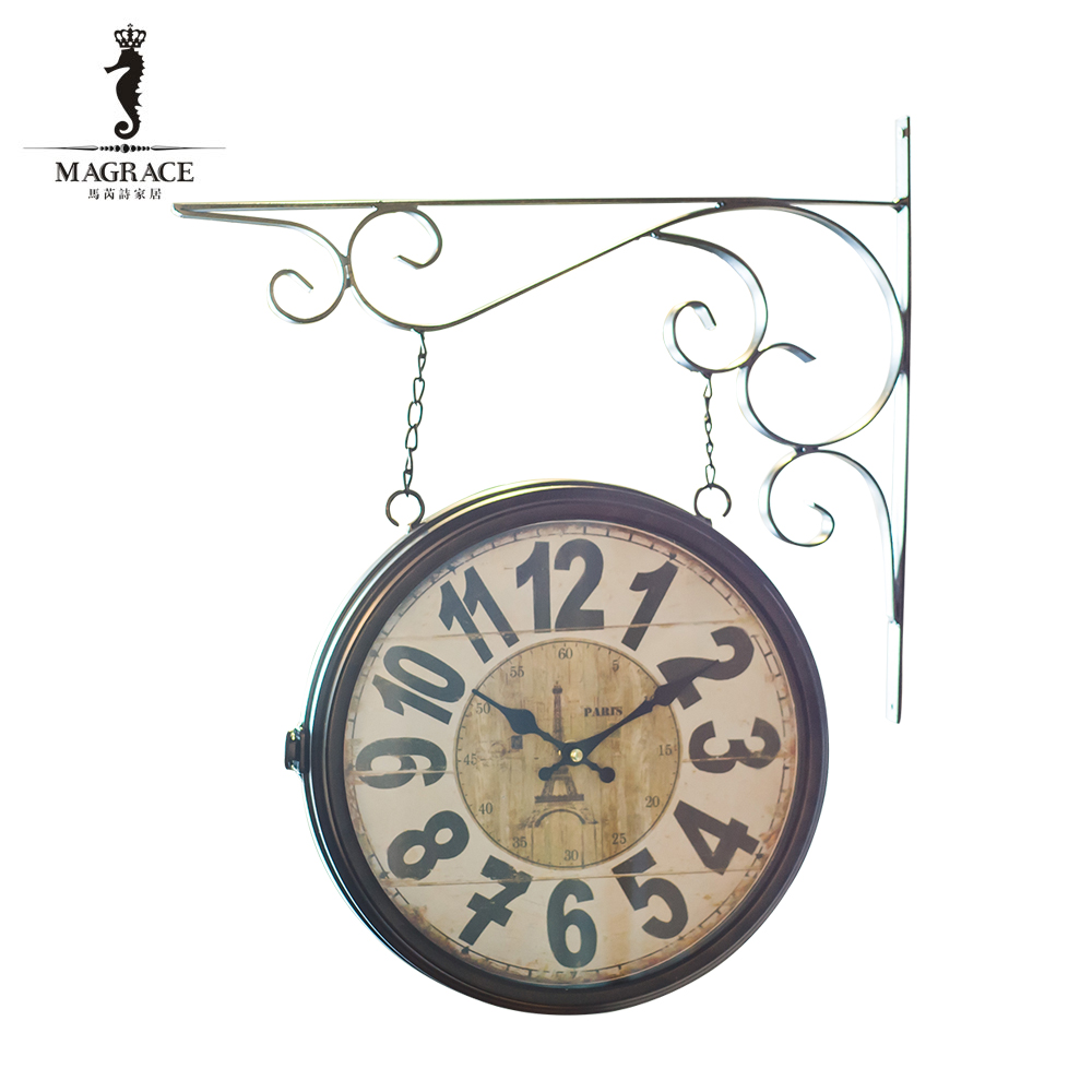 online get cheap hanging clock double -aliexpress | alibaba group