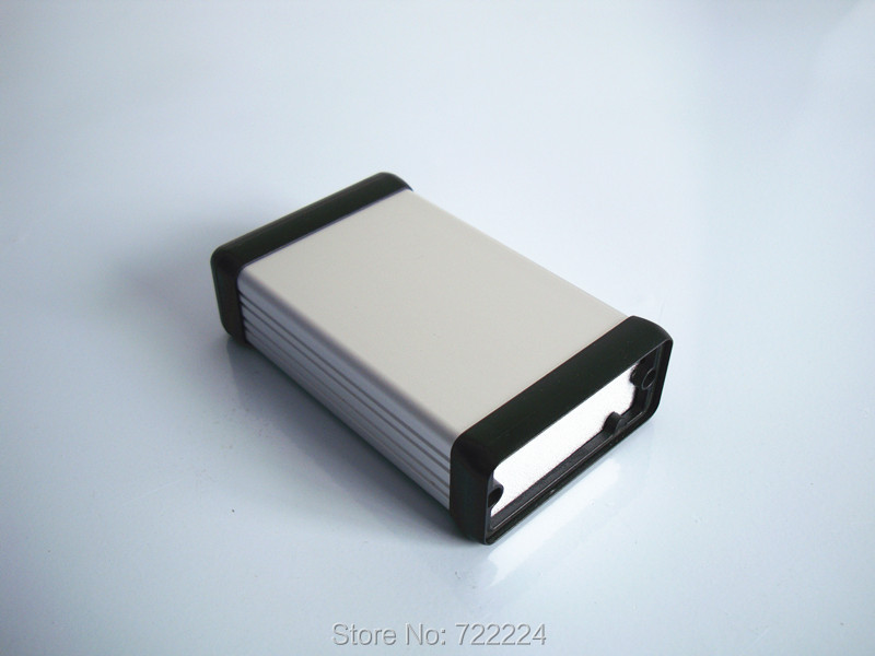 54*23*80mm silvery sand blasting aluminum box for electronic project 6063-T5 communication equipment PCB board shell outlet case 1pc sand blasting oxidation black aluminum case diy project electronic line protection box 10 x 9 7 x 4cm promotion