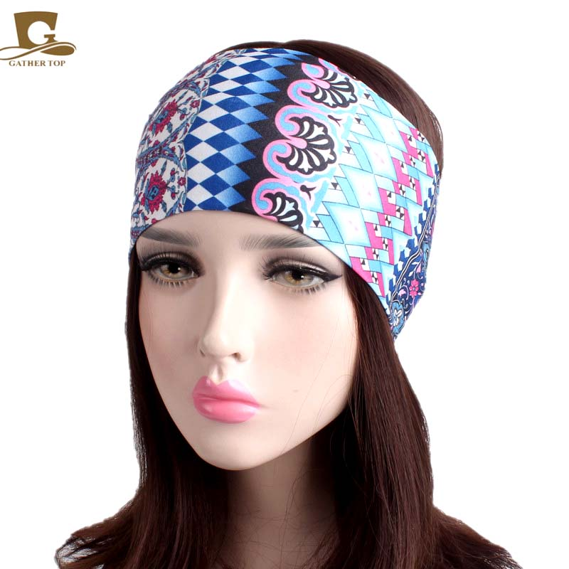 Girl's Accessories Apparel Accessories Fashion Wide Patchwork Cotton Headband For Women Lady Plain Fabric Yoga Sport Elastic Hairband Turban Headwrap Hair Accessories