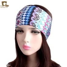 NEW Women Elastic Turban Headband Sport yoga Headbands Ethnic Wide Stretch hair band headwrap