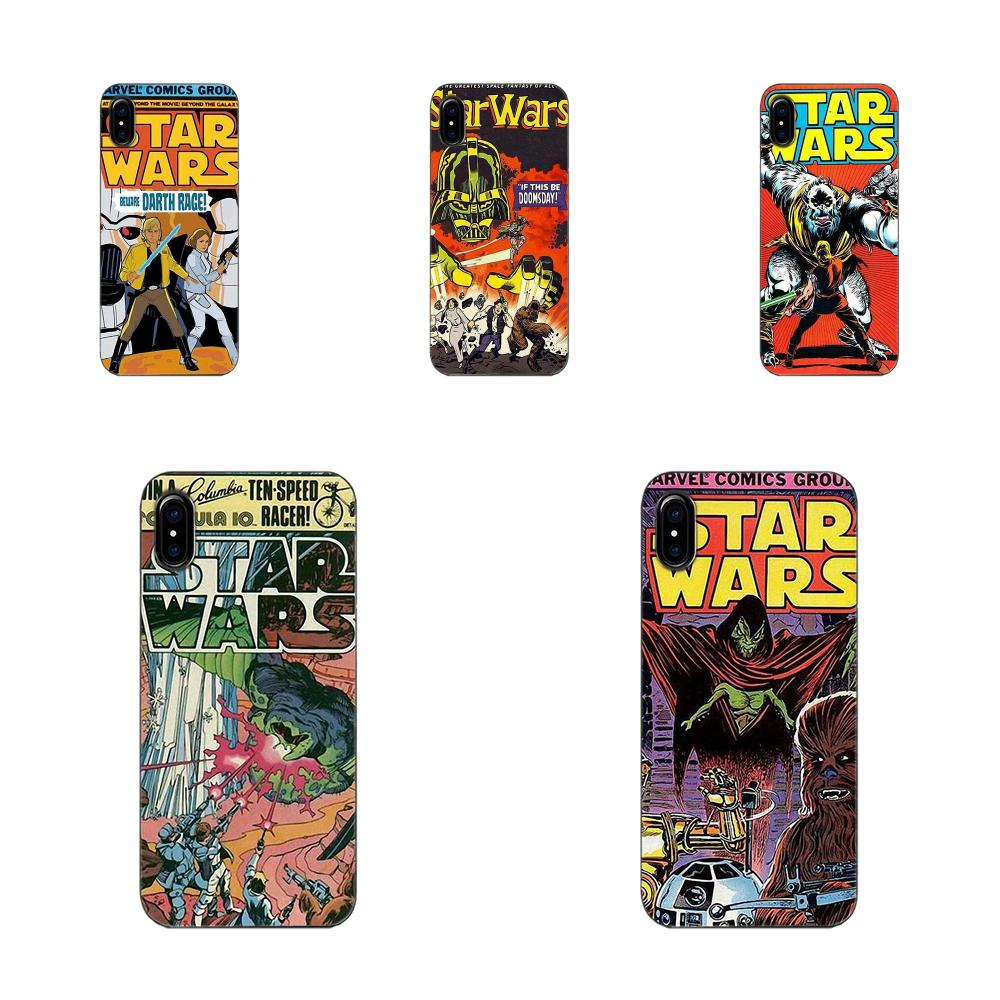 Soft Phone Covers Case For Huawei G7 Y6 II Y7 For Xiaomi Redmi Note 2 3 5 Mi 3 4 4C 4I 5S 5X 6X 8 SE Pro Star Wars Marvel Comics image