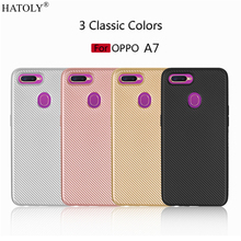 Phone Case OPPO A7 Case Soft Rubber Silicone Armor Shell Fundas Protective Phone Cover For OPPO A7 Style Case For OPPO A7