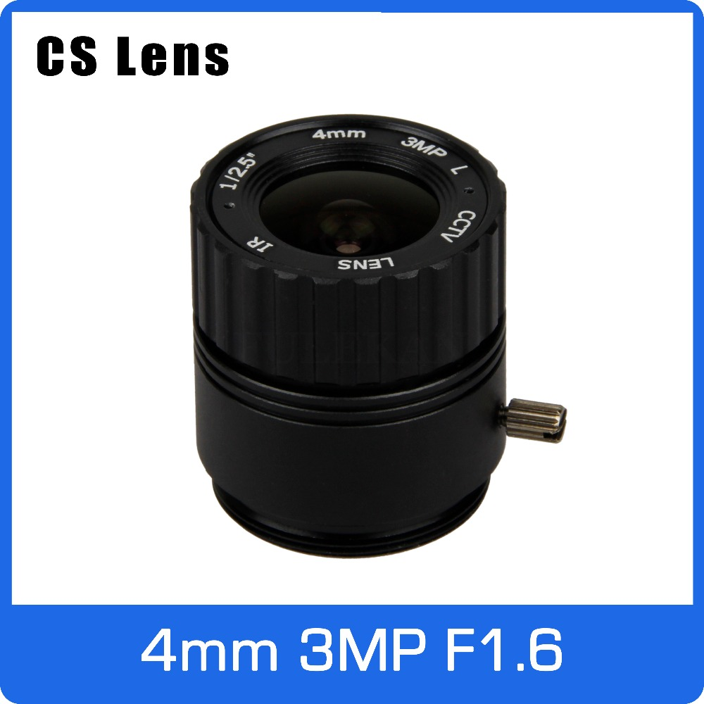 3Megapixel 4mm CS Mount Fixed Aperture F1.6 CCTV Lens For HD 1080P AHD IP Camera Box Camera Explosion Proof Camera Free Shipping 4mm iris fixe montage cs ir cctv camera de securite lentilles f1 aperture