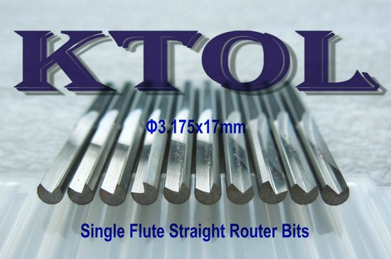 5PC Single Blade Single Flute CNC Router Bits 17mm For Aluminium Cutting Tool