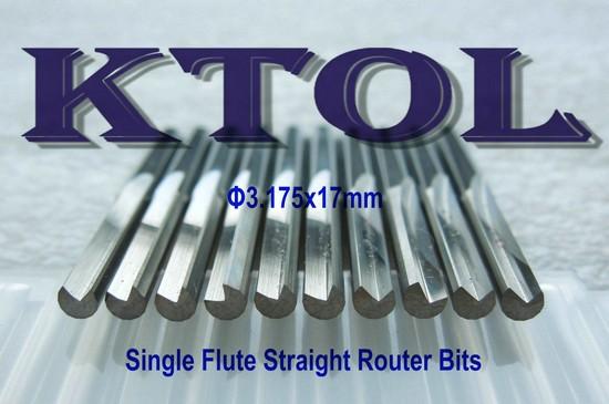 5PC Single Blade Single Flute CNC Router Bits 17mm For Aluminium Cutting Tool