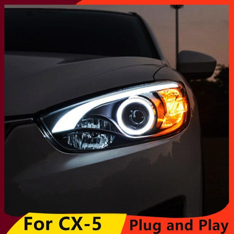 KOWELL Car Styling for Mazda CX 5 Headlights 2011 2015 CX5 LED Headlight DRL Bi Xenon