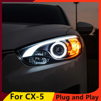 KOWELL Car Styling for Mazda CX 5 Headlights 2011 2015 CX5 LED Headlight DRL Bi Xenon Lens High Low Beam Parking Fog Lamp