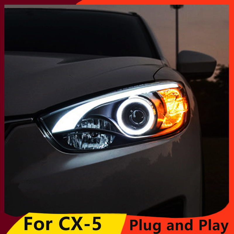 KOWELL Car Styling for Mazda CX 5 Headlights 2011 2015 CX5 LED Headlight DRL Bi Xenon Lens High Low Beam Parking Fog Lamp