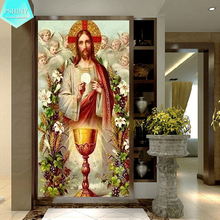PSHINY 5D DIY Diamond embroidery sale Father and Holy Grail Religion Full round rhinestone Paintings cross stich