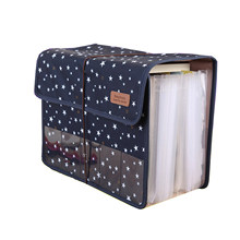Cute Portable Expandable Accordion 12 Pockets A4 File Folder Oxford Expanding Document Briefcase(China)
