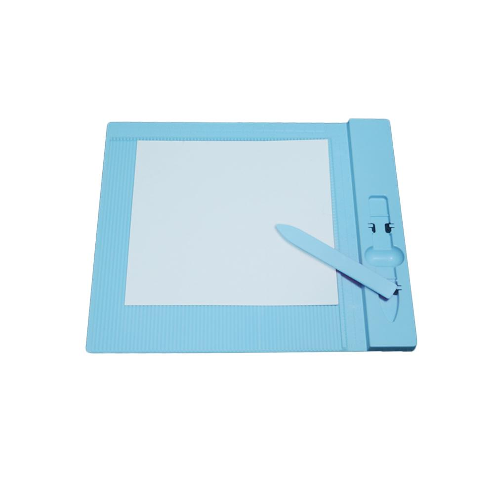 Plastic Scoring Board For DIY Scrapbooking Paper Craft Card Making Envelope Easy Measuring Folding Creasing Craft Tool New 2019