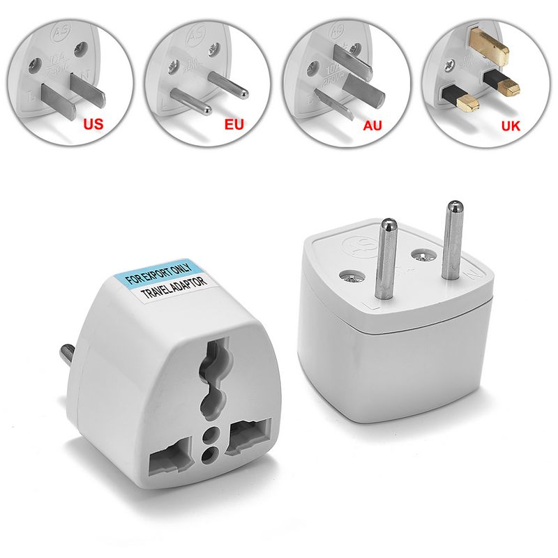 20pcs Universal American UK AU US To EU Plug Adapter Euro European Travel Wall AC Power Charger Outlet Round Electrical Sockets
