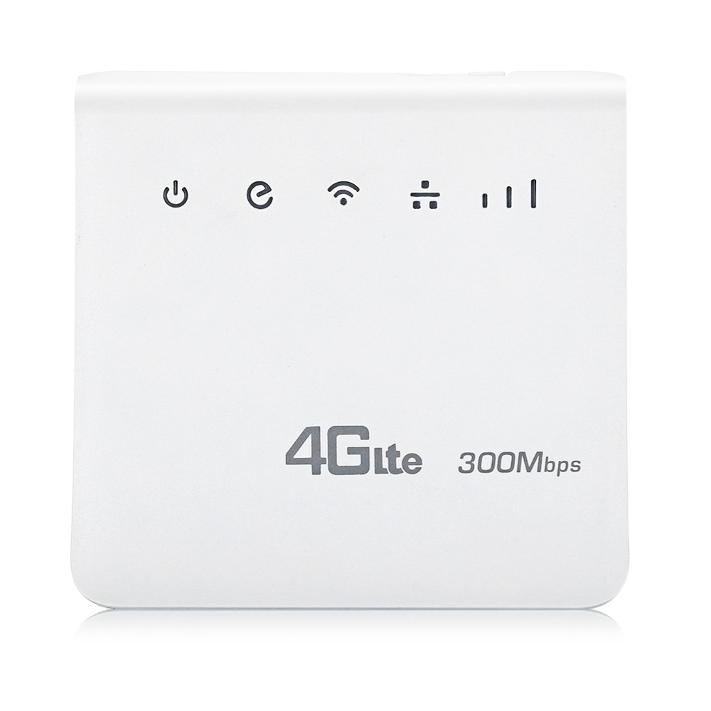 300Mbps 4G LTE Wifi Router Wireless CPE Mobile WiFi with SIM Card Slot up to 32 wifi Users Long wifi Coverage for Home/ Outdoor