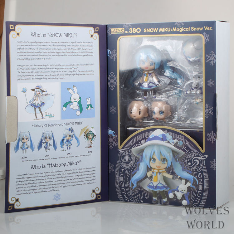 Free Shipping GSC 4 Nendoroid VOCALOID Hatsune Miku 2014 New Snow Miku: Magical Snow Ver PVC Action Fifure Collection Toy MK019