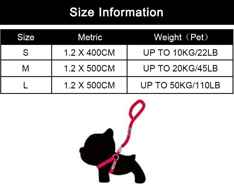 MySudui 4M Retractable Dog Leash Automatic Extending Reflective Nylon Dog Leads Leash Big Dog Leash Retractable For Large Dogs (3)