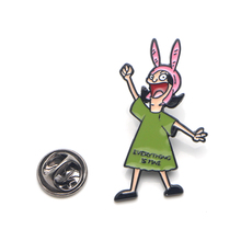 Patchfan Bobs Burgers Zinc tie cartoon Funny Pins backpack clothes brooches for men women hat decoration badges medals A1885