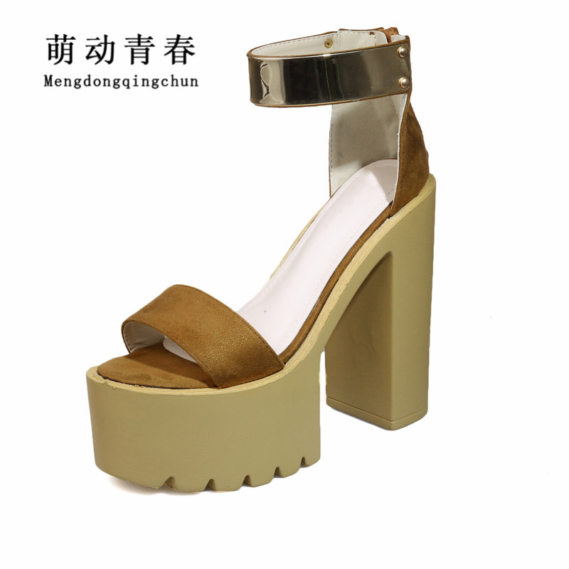 New Women Sandals Fashion Peep Toe Gladiator Casual High Heel Shoes Women High Platform Rome Summer Sandals 2017 new summer fashion women casual shoes genuine leather lady leisure sandals gladiator all match ankle peep toe flowers