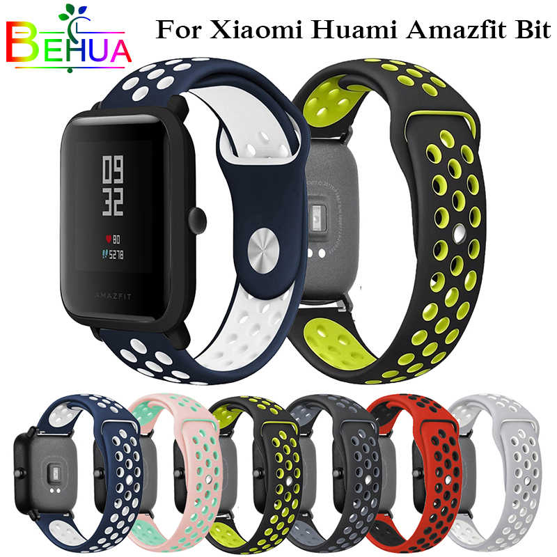 Watch band For Xiaomi Huami Amazfit Bip BIT PACE Lite Youth Band Silicone Strap Bracelet Belt For Huami Amazfit Bip Replacement
