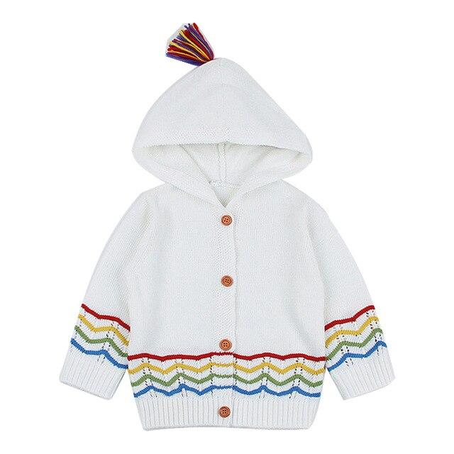 de2182b74 2019 niños suéteres de moda con capucha niñas de punto suéter otoño  invierno Niño suéteres casuales