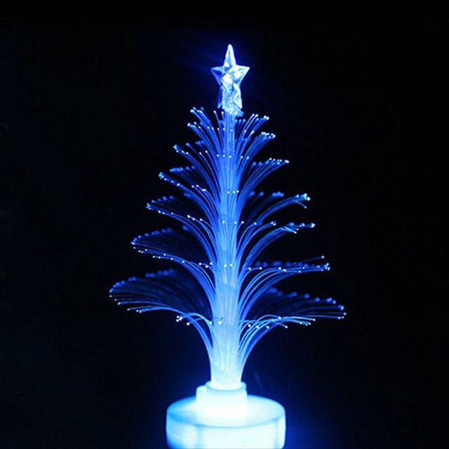 Hot Koop Kleurrijke LED Fiber Optic Nachtlampje Kerstboom Lamp Licht ...