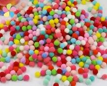 7mm mixed colors pompom diy craft 500pcs/lot 22010017(7HS500)