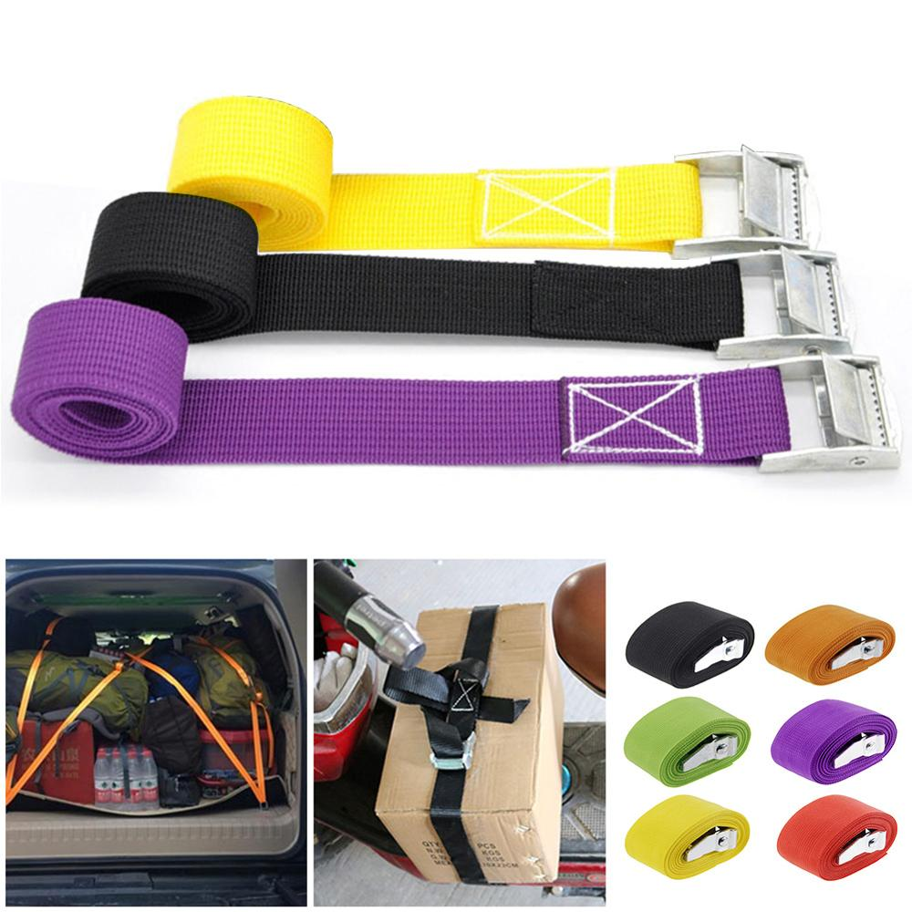 Tow-Rope Buckle Ratchet Belt Luggage-Bag Tie-Down-Belt Bike Cargo-Straps Motorcycle Strong