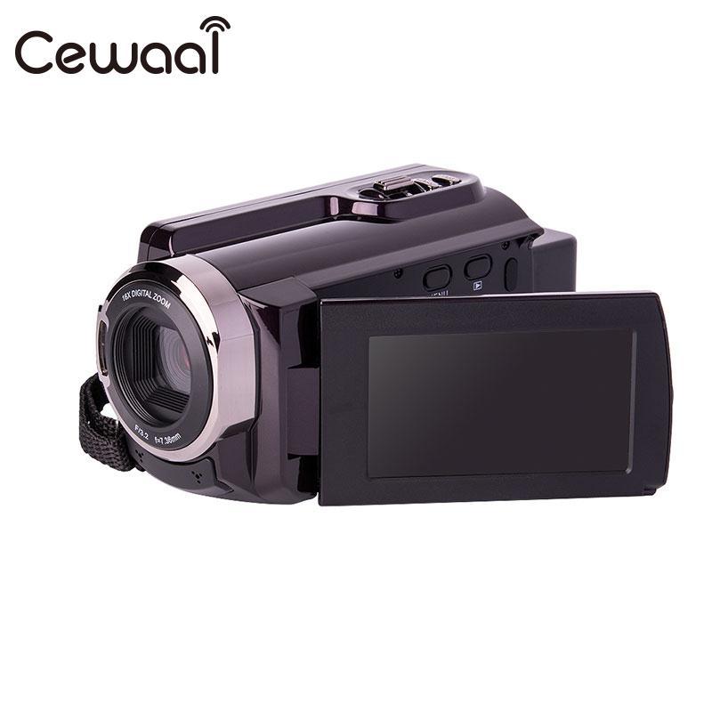 Cewaal FULL HD 4K 24MP 3''LCD Camera USB Brown HD Recorder Camcorder 16X ZOOM FULL HD 4K 24MP 3''LCD DV Camcorder