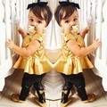 2015 limitado en el Tiempo Real Ropa de Minnie de la Familia de Ropa de Bebé Niña Traje Shirt Dress + Leggings Pantalones Casuales de Manga Corta 2 Unidades