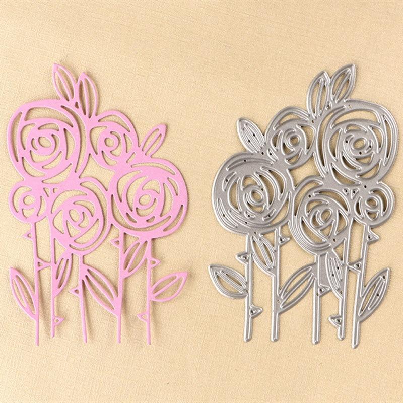 DUOFEN New product in May rosebush metal flowers cutting dies new 2018 DIY Scrapbooking stamping die cuts flower paper card