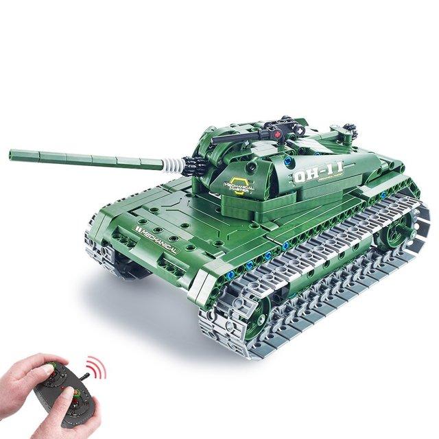 Bouwstenen Set 453 Stks Afstandsbediening Tank Bouw Stem Speelgoed