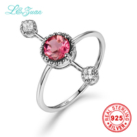 I Zuan 14K Gold 0 4ct Tourmaline Balance Prong Setting Classic Red Stone Ring Jewelry For