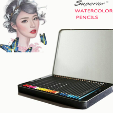 Superior 36/48/72/120 Colors/Box Professional Watercolor Drawing pencils Set For Art School Gifts Sketch Painting Supplies