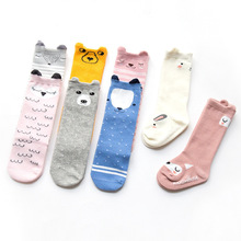 Cartoon Cute Kids Cotton Socks Hosiery Animal Baby Cotton Sock Knee High Long Legwarmer Cute Socks Boy Girl Children socks 0-4 Y 1 pack cotton girls socks long baby knee high socks cat style princess kids socks girl cute baby sock baby girl clothes 30cm