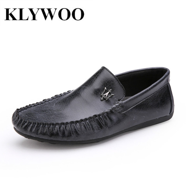 Hot Sale Men Loafers Leather Spring Autumn Casual Breathable Men Driving Shoes Flats Slip on Zapatos Hombre Brown Size 39-44